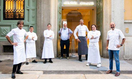 Gli chef ospiti con Paolo Marchi