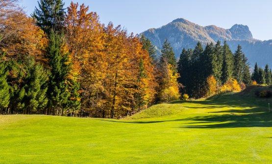 La bella vista sui campi da golf davanti al ristorante