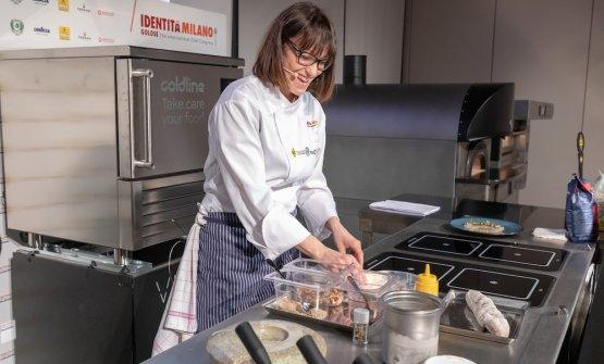 Sara Simionatoè la storica - per quanto giovane - pastry chef dell'Antica Osteria Cera