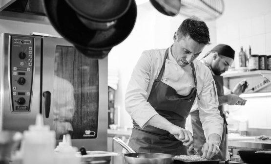 Marco Molaro, 30 anni, friulano, chef del ristoran