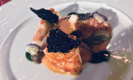 Astice con gazpacho alla puttanesca, chef Vito Mollica