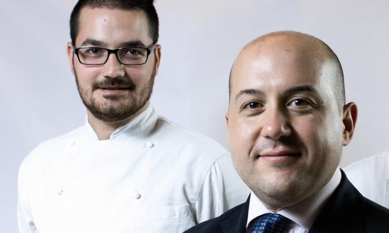 Luciano Monosilio e Alessandro Pipero in uno scatto di otto anni quando, entrambi nati ad Albano Laziale, erano alla guida del locale aperto nella stessa loro città natale