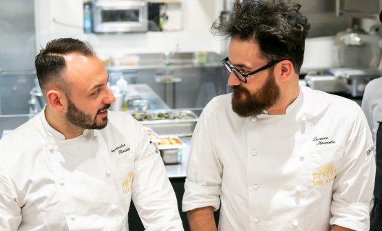 Monosilio con il resident chef di Identità Golose Milano, Alessandro Rinaldi