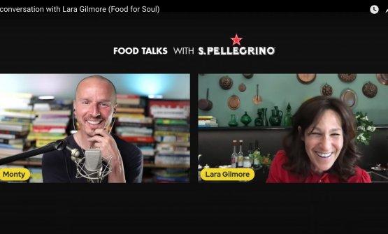 Marco Montemagno e Lara Gilmore nel dialogo che si