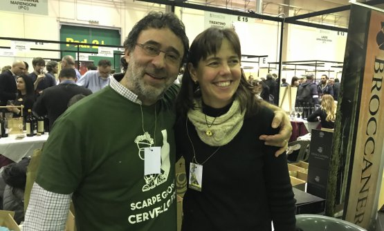 Gaetano Morella con la moglie Lisa Gilbee