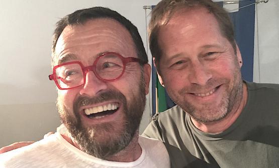 Giancarlo Morelli e David Kinch a Salina, maggio 2017
