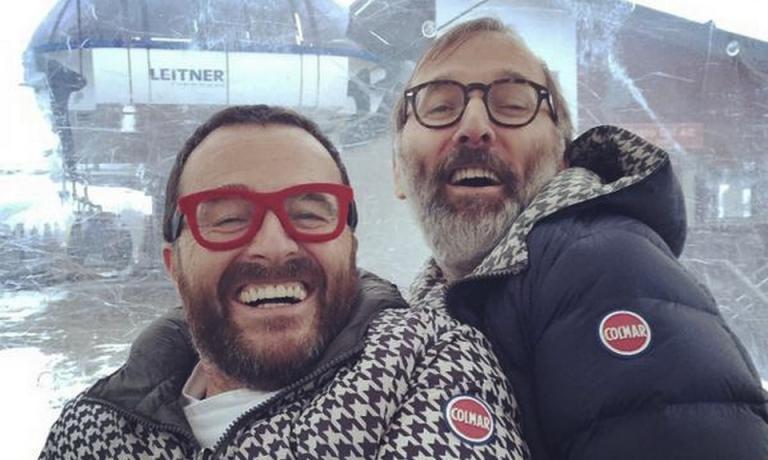 Giancarlo Morelli e Norbert Niederkofler fanno rotta verso il rifugio Col Alt