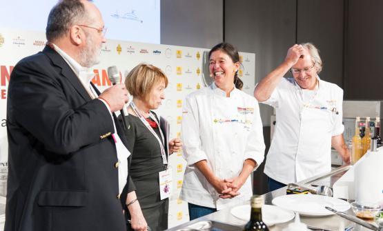 La cuoca argentinaMariana Müller, insieme al ma