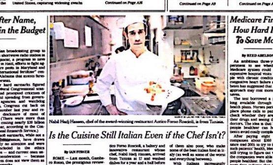 Nabil e la carbonara, a pagina 1 del New York Times,7 aprile 2008