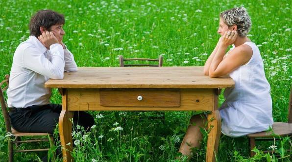 Ana Ros con Valter Kramar, compagno nel lavoro e nella vita a Hisa Franko, mezzora dal confine Slovenia-Italia