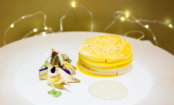 Lasagnetta carciofi e provola affumicata