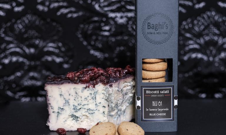 I biscotti salati Baghi's con il formaggio erborinato