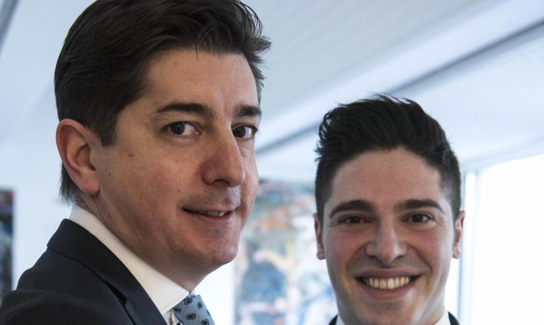 Nicola Dell'Agnolo, a sinistra, e Alberto Pira