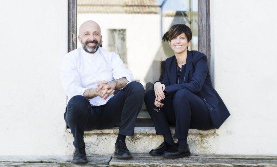Lochef Niko Romito e la sorella Cristiana(phBrambilla/Serrani)