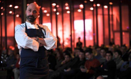 Niko Romito, sul palco di Identità Golose. Con il suo Reale Casadonna(e non solo...) è un punto di riferimento assoluto per la ristorazione italiana