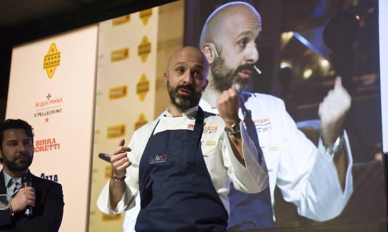 Niko Romito a Identità Milano 2016. Lo chef abruzzese è la new entry italiana del 50 Best: i 50 migliori saranno rivelati lunedì, poche ore fa è stata resa nota la classifica dal 51° al 100° posto