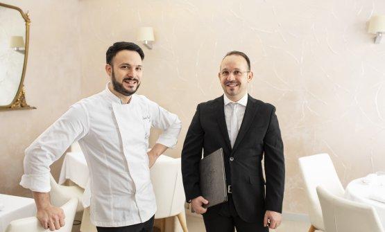 Lo chef assieme al fratello Enzo Bandi, maîre e sommelier del ristorante (phNino Lombardi)
