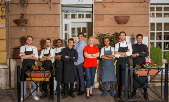 La squadra di Chinappi, a Roma. L'equilibrio t