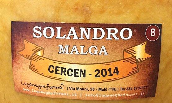 La forma battuta per ottava, prodotta nella malga Cercen nel 2014 in Val di Rabbi. Quasi sette chili di formaggio semigrasso a latte crudo