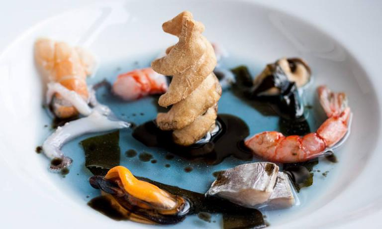 Il piatto No Triv dello chef Antonio Bufi, Le Giar