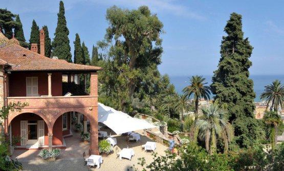 I giardini di Villa della Pergola, che ospita il r