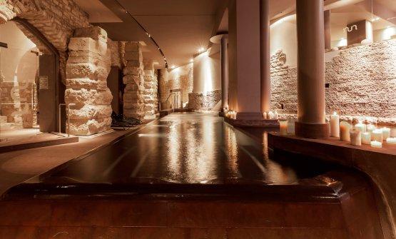 ...e la meravigliosa Spa ricavata tra mura romane