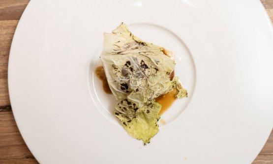 Pancia di maiale, enogarum e salsa di panettone maturato