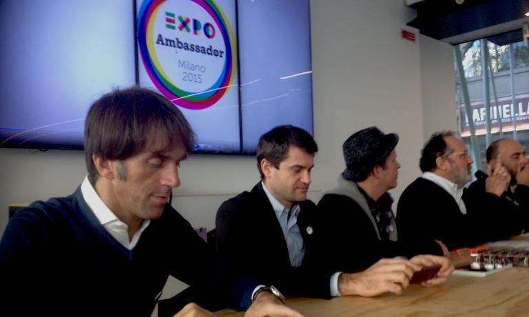 Davide Oldani è Expo Ambassador (come i colleghi Enrico Bartolini ed Ernst Knam, nella foto)