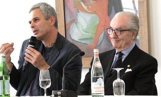 Pietro Leemann e Gualtiero Marchesi (foto Finedininglovers)
