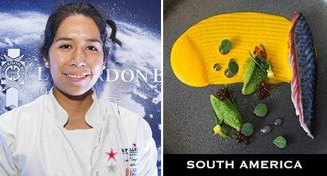 Elizabeth Puquio Landeo,chef de partie dell'Ambrosía, Cile