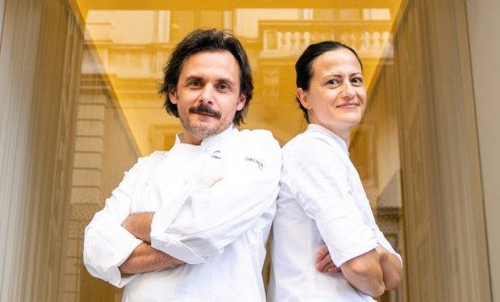 Angelica Giannuzzi e Antonio Zaccardi del Pashà di Conversano, qui fotografati a Identità Golose Milano