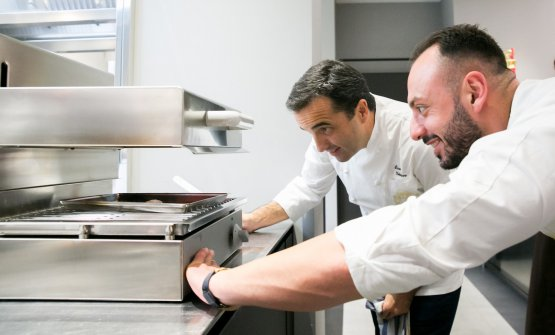 Velasco with Alessandro Rinaldi, chef at Identità Golose Milano