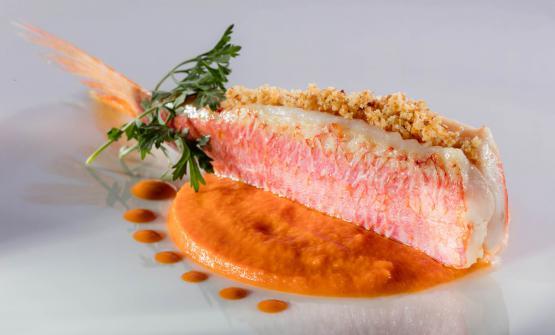 Triglia, salsa romesco e crescione di fiume è la ricetta 2017 di Giuseppe D'Aquino, chef dell'Oseleta di Villa Cordevigo a Cavaion Veronese (Vr)