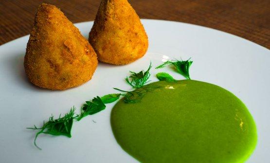 Polpetta di broccolo e ombrina con maionese al prezzemolo