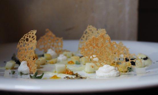 Alcuni piatti assaggiati alle 3 Rane: Ricotta, sedano rapa, olive