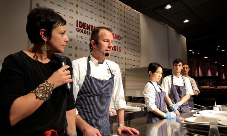 Simone Padoan con Francesca Barberini: il pizza-ch