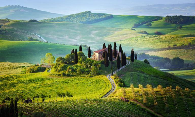 Paesaggio colline toscane