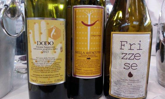 Dodo Igt Toscana 2013, insieme ad altri vini di Taverna Pane e Vino