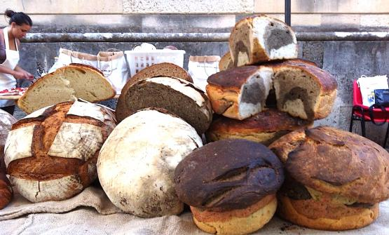 A display of special breads made by Antonio Cera,