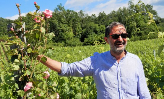 Paolo Chirillo, proprietario dell'azienda vitivinicola Le Moire, di Motta Santa Lucia, in provincia di Catanzaro. Ha lasciato il Piemonte per tornare nella terra della sua famiglia