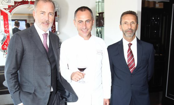 Paolo Damilano, lo chef Francesco Apreda e l'enologo Alessandro Bonelli