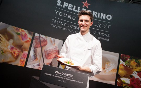 Paolo Griffa in 2015, at the S.Pellegrino Young Chef, where he won the Italian finals