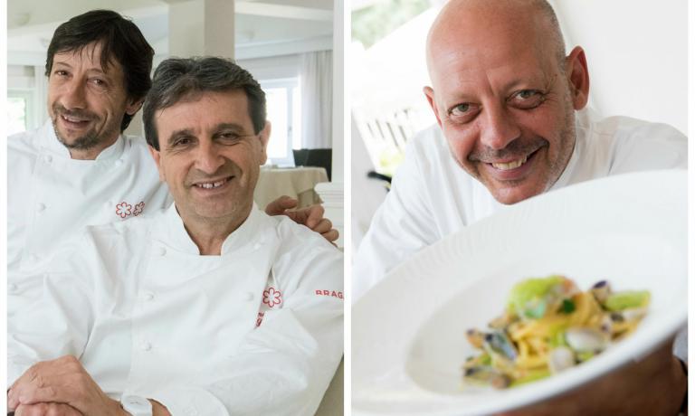 I fratelli Sandro e Maurizio Serva e Gianfranco Pa