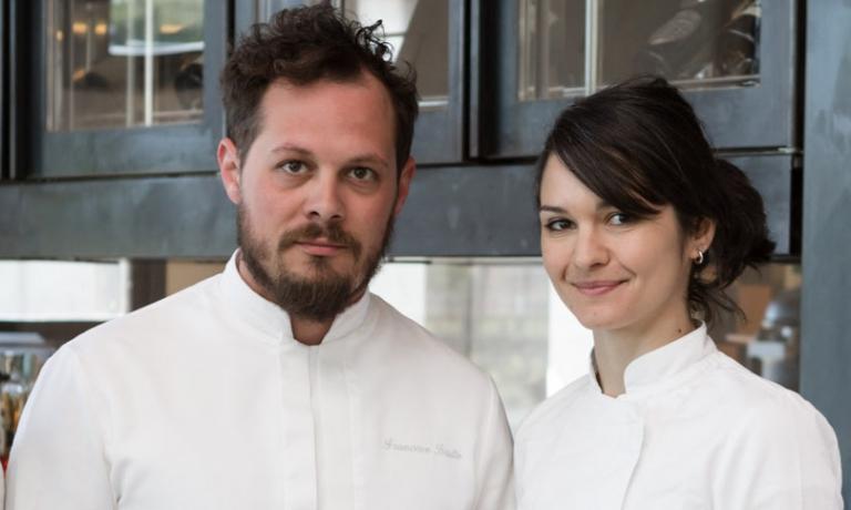 """Francesco Bruttoe la """"sua""""Chiara Pavan, che segue direttamente la cucina del Venissa"""