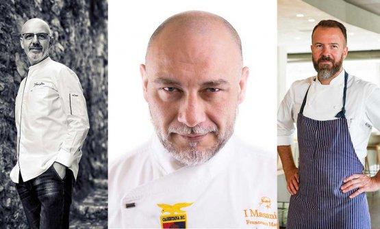 Il podio della quarta edizione di 50 Top pizza: da sinistra Franco Pepe, Francesco Martucci e Simone Padoan