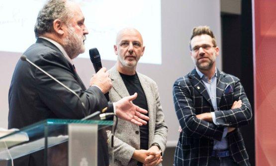 Paolo Marchi con Franco Pepe e Renato Bosco: è loro la firma del piatto simbolo di Identità Milano, 3-5 marzo 2018