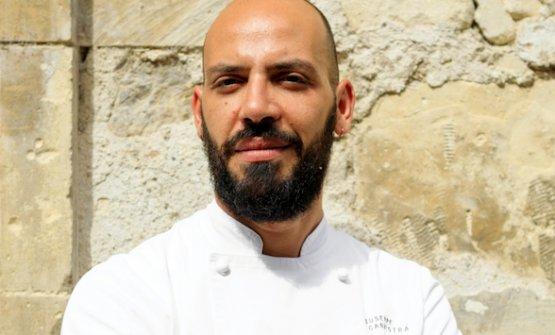 Lo chef Giuseppe Cannistrà, chef de I Banchi, proprietà diCiccio Sultano