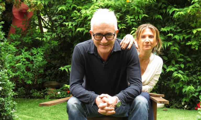 Pellegrini con la moglie Silvia Corna,angelo della sala