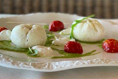 Panini di seppia ai frutti di mare con crema di pi