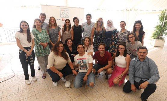 Gli studenti della summer school di 'nnumari, provenienti da11 diversi Paesi del Mediterraneo